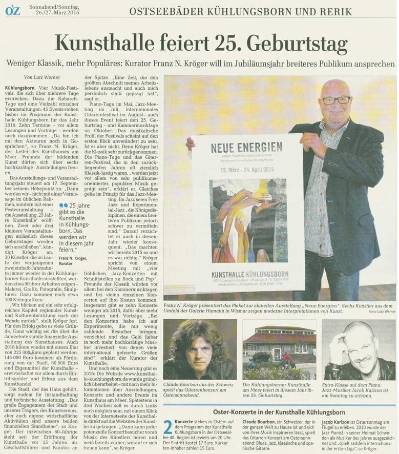 OZ 26.03.2016 - Jubiläum Kunsthalle