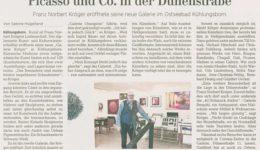 Ostsee-Zeitung 03.04.2021 - Eröffnung Galerie Kröger