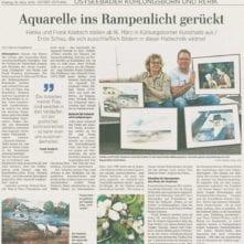 Ostsee-Zeitung 15.03.2019 - Ausstellung Hanka und Frank Koebsch