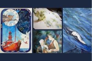 Titelbld für die Web Seite - Ausstellung Farbspiele von Hanka & Frak Koebsch